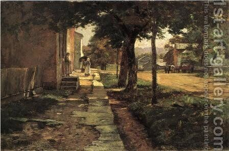 Street in Vernon by Theodore Clement Steele - Reproduction Oil Painting