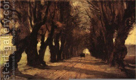 Road to Schleissheim by Theodore Clement Steele - Reproduction Oil Painting