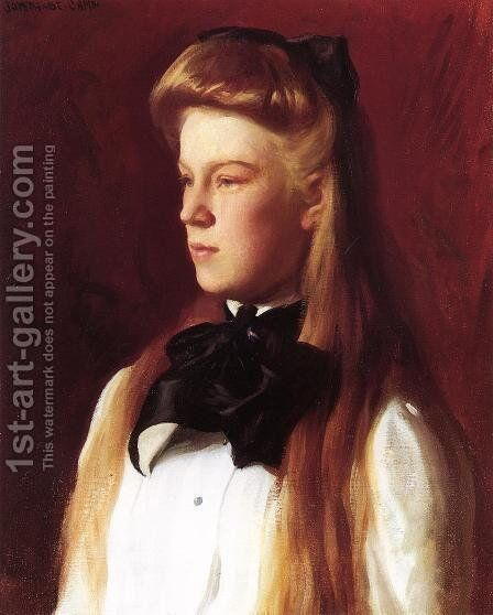 Miss Alice Boit by Joseph Rodefer DeCamp - Reproduction Oil Painting