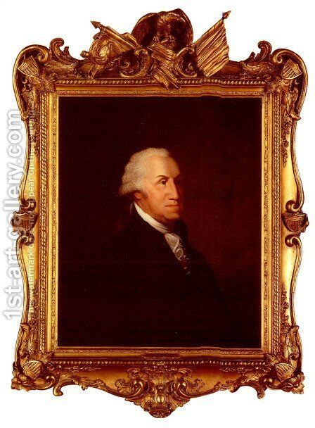 The Stedman Bust Portrait Of George Washington by Edward Savage - Reproduction Oil Painting