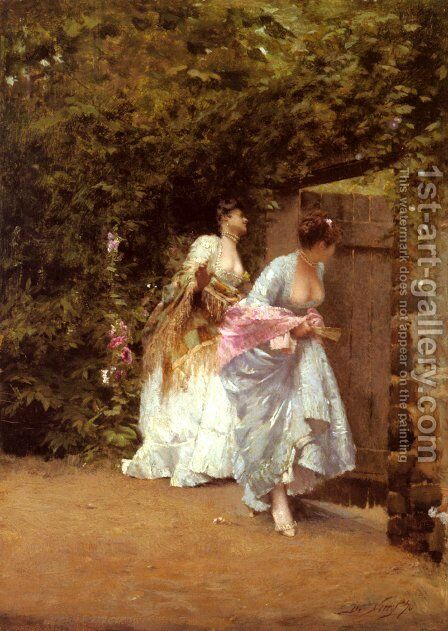 Il Ritorno Dal Ballo (Return From The Ball) by Giuseppe de Nittis - Reproduction Oil Painting