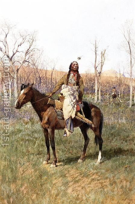 Crow Scouts by Henry Farny - Reproduction Oil Painting