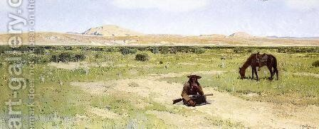 A Rest in the Desert by Henry Farny - Reproduction Oil Painting