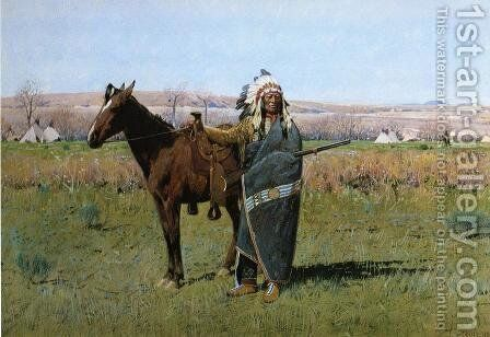 Chief Spotted Tail by Henry Farny - Reproduction Oil Painting