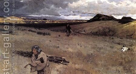 The Toilers of the Plains by Henry Farny - Reproduction Oil Painting