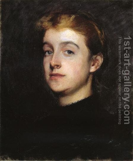 Portrait Sketch Of Eleanor Hardy Bunker by Dennis Miller Bunker - Reproduction Oil Painting