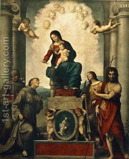 Madonna with St. Francis by Correggio (Antonio Allegri) - Reproduction Oil Painting