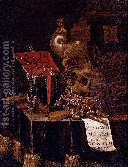 Vanitas Still Life by Edwaert Collier - Reproduction Oil Painting
