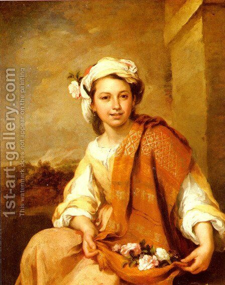 The Flower Girl by Bartolome Esteban Murillo - Reproduction Oil Painting