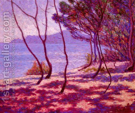 Paysage Mediterranean by Edmond Bailleul - Reproduction Oil Painting