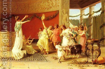 A Roman Dance by Guglielmo Zoochi - Reproduction Oil Painting