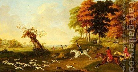Fox Hunting by John Nost Sartorius - Reproduction Oil Painting