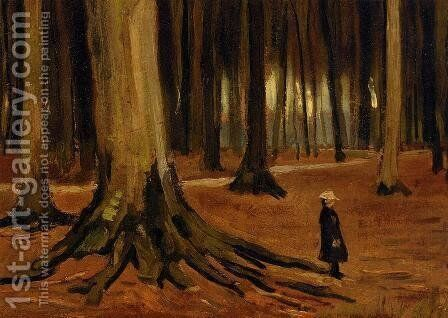 Girl in the Woods by Vincent Van Gogh - Reproduction Oil Painting