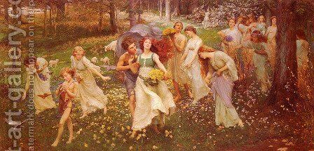 The Progress Of Spring by Charles Ward - Reproduction Oil Painting