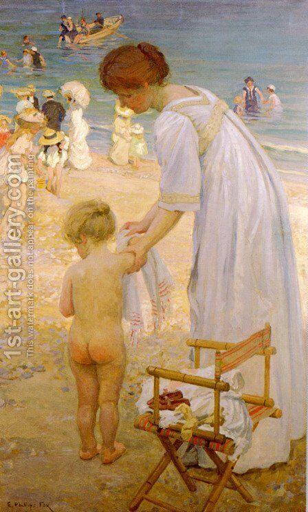 The Bathing Hour by Emanuel Phillips Fox - Reproduction Oil Painting