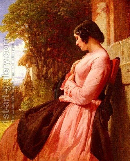 Contemplation by Henry Lejeune - Reproduction Oil Painting