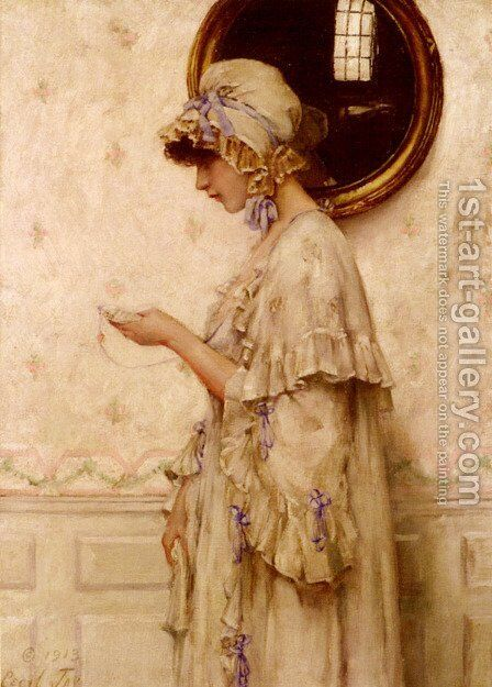 The Miniature by Cecil Jay - Reproduction Oil Painting