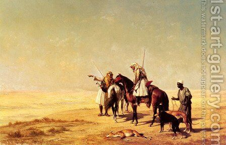The Desert Hunt by Etienne Billet - Reproduction Oil Painting