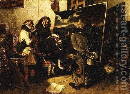The Experts by Alexandre Gabriel Decamps - Reproduction Oil Painting