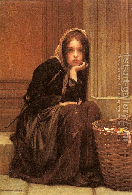 A Basket of Ribbons by Christen Brun - Reproduction Oil Painting