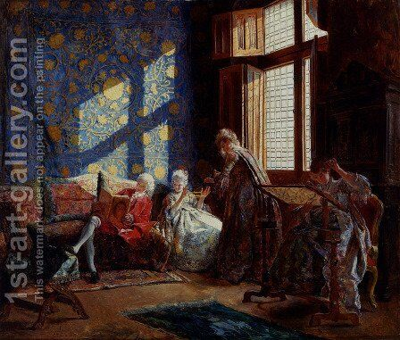 The Embroiderers by Ignacio Leon y Escosura - Reproduction Oil Painting