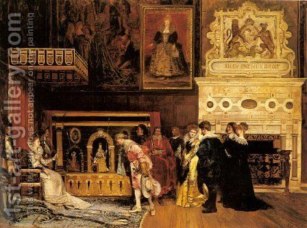 The Presentation at Court by Ignacio Leon y Escosura - Reproduction Oil Painting