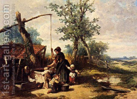At The Well by Johan Mari Ten Kate - Reproduction Oil Painting