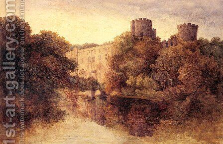 Castle in an Autumn Landscape by David Cox - Reproduction Oil Painting