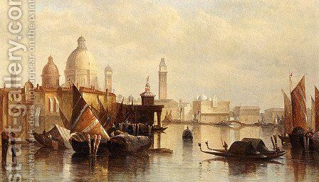 A View Of Venice by James Holland - Reproduction Oil Painting