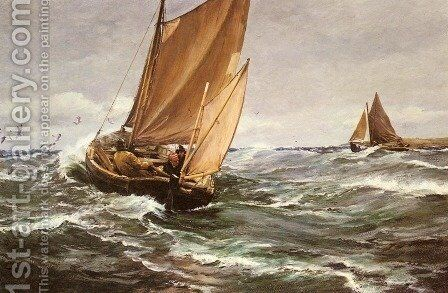 In Spite of Wind and Weather by Charles Napier Hemy - Reproduction Oil Painting