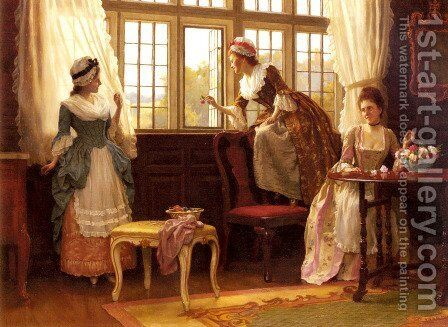 Fair Deceivers by Charles Haigh-Wood - Reproduction Oil Painting