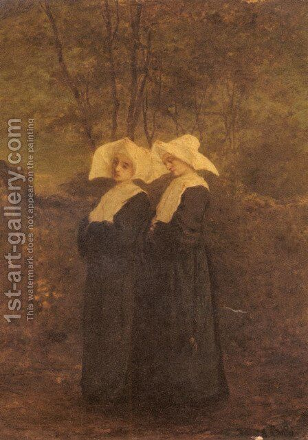 Nuns by Armand Gautier - Reproduction Oil Painting