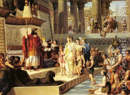 Solomon And The Queen Of Sheba by Giovanni Demin - Reproduction Oil Painting