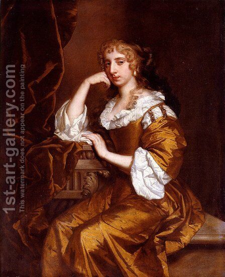 Portrait Of Mrs. Charles Bertie by Sir Peter Lely - Reproduction Oil Painting