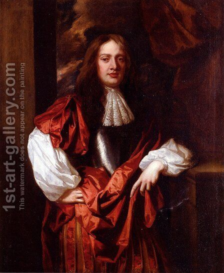 Portrait Of The Hon. Charles Bertie Of Uffington by Sir Peter Lely - Reproduction Oil Painting