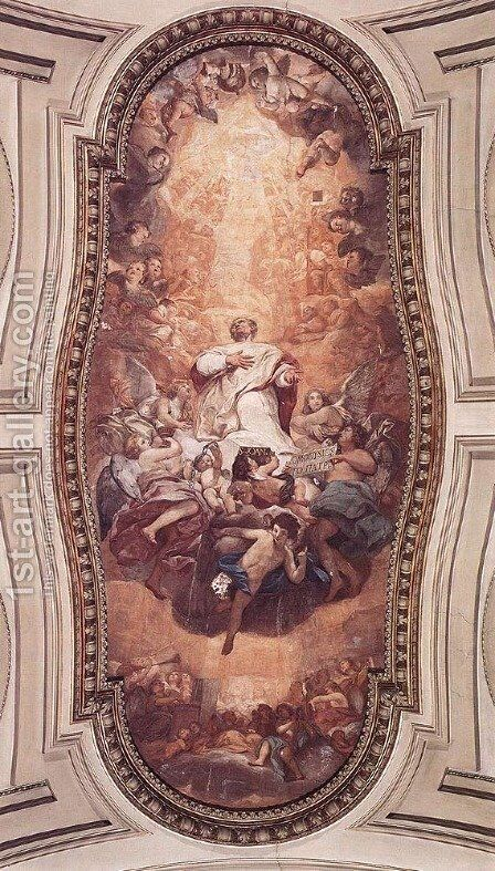 Glory of St Eusebius by Anton Raphael Mengs - Reproduction Oil Painting