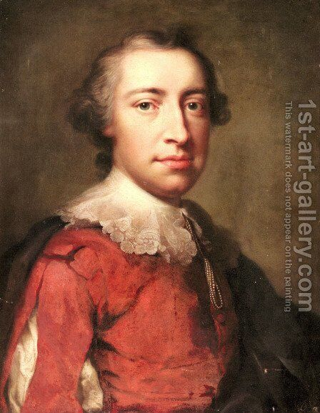 Portrait of a Gentleman by Anton Raphael Mengs - Reproduction Oil Painting