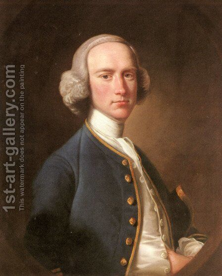 Portrait of George Hill, Sergeant At Law (1716-1808) by Henry Pickering - Reproduction Oil Painting