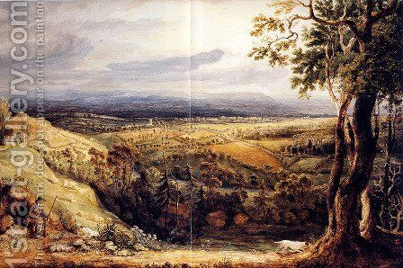 View In Somersetshire From Fitzhead, The Seat Of Lord Somerville by James Ward - Reproduction Oil Painting
