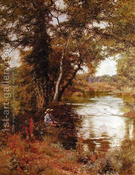 Fishing by Edward Wilkins Waite - Reproduction Oil Painting