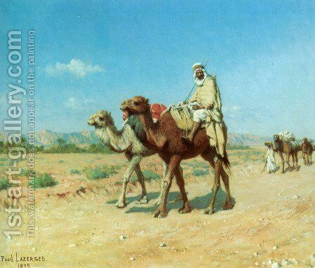 In the Desert by Jean Baptiste Paul Lazerges - Reproduction Oil Painting
