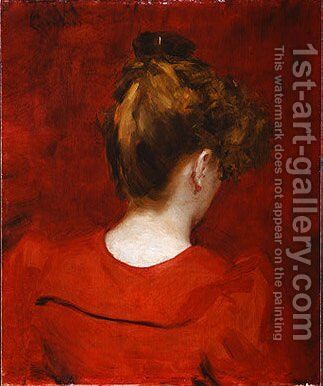 Study of Lilia by Carolus (Charles Auguste Emile) Duran - Reproduction Oil Painting
