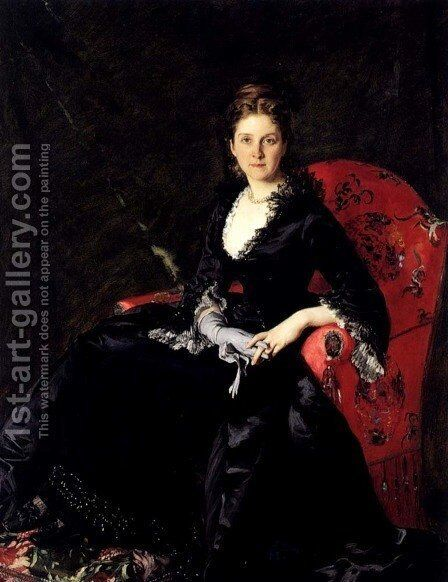 Portrait of Mme N. M. Polovtsova by Carolus (Charles Auguste Emile) Duran - Reproduction Oil Painting