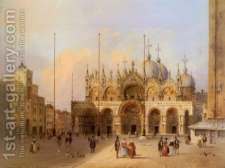 Basilica Di San Marco by Carlo Grubacs - Reproduction Oil Painting
