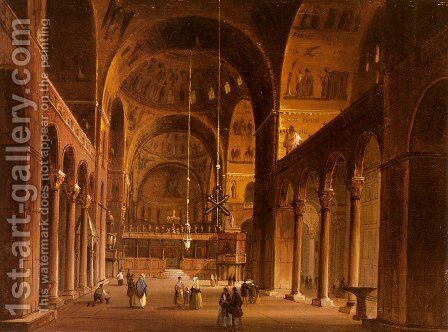 Piazza San Marco by Carlo Grubacs - Reproduction Oil Painting