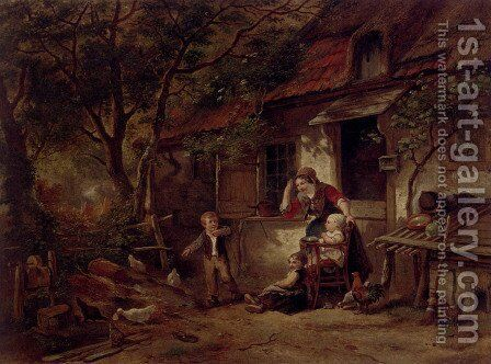 The Farmyard Thief by Herman Frederik Carel ten Kate - Reproduction Oil Painting
