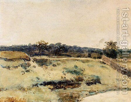 A Summer Landscape With Figures On A Path by Jan Hendrik Weissenbruch - Reproduction Oil Painting