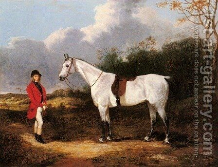 Mr. Stillwell with is Favorite Hunter by Abraham Cooper - Reproduction Oil Painting