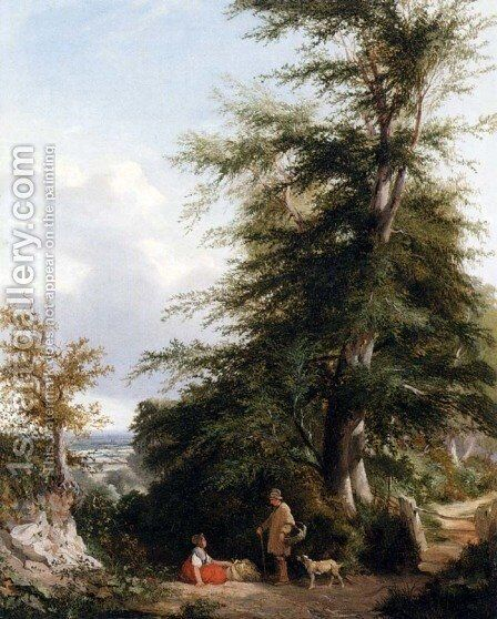 A Wayside Chat by Henry John Boddington - Reproduction Oil Painting
