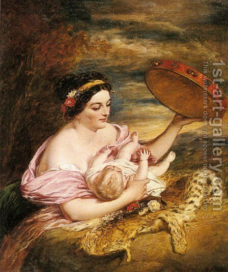 Mother's Darling by Charles Dukes - Reproduction Oil Painting